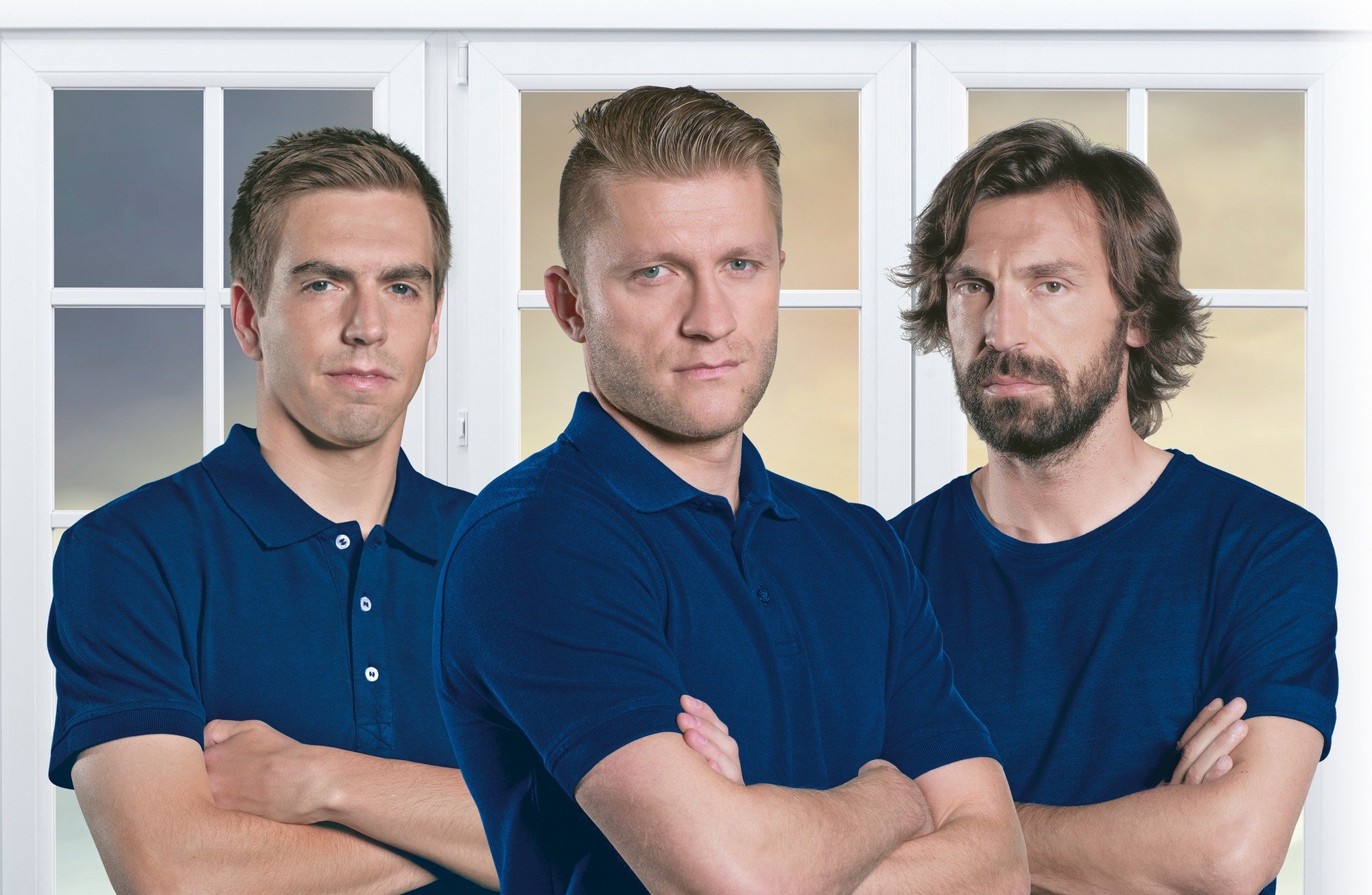DRUTEX renews the cooperation with Andrea Pirlo, Philipp Lahm and Jakub Błaszczykowski.