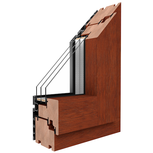 DUOLINE - 68, 78, 88 - Wood-aluminum windows