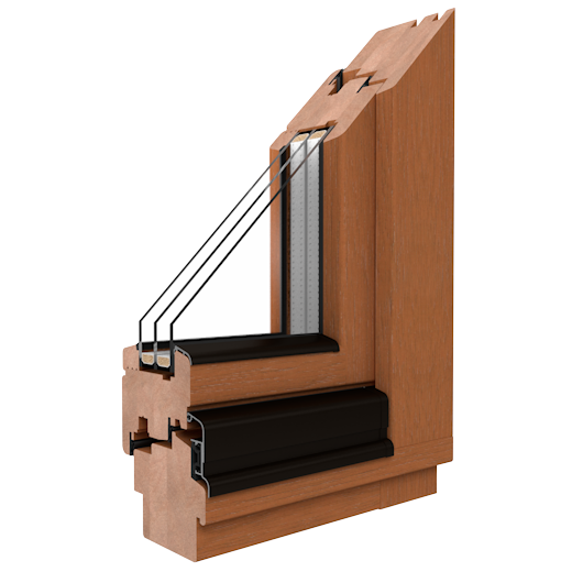 SOFTLINE - 68, 78, 88 - Wooden windows